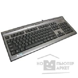 Клавиатура A-4Tech Keyboard A4Tech KLS-7MU-1 серебристо-черный , PS/ 2, провод. кл-ра с USB портом