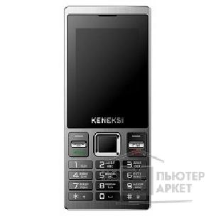 Кенекси KENEKSI X8 Black, 2.4'' 320x240, up to 16GB flash, 1.3Mpix, 2 Sim, 2G, BT, 800mAh, 89g, 118x49x11