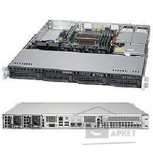 Сервер Supermicro Серверная платформа 1U SATA BLACK SYS-5019S-MR