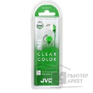Наушники Jvc Clear Colour HA-FX22-G салатовый