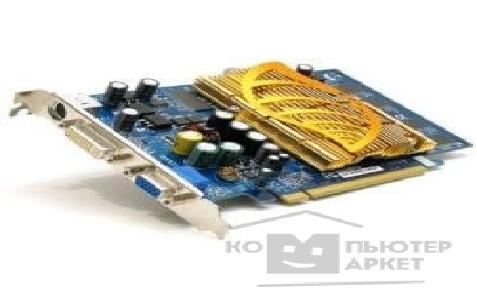 Видеокарта Gigabyte GV-NX66L128DP, RTL GF 6600LE, 128Mb DDR, TV-OUT, DVI  PCI-E