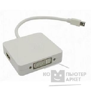 Переходник Espada Видеоадаптер Mini Display Port M to DVI/ HDMI/ DisplayPort, 20 cm, EMDPM-3in1DPF20