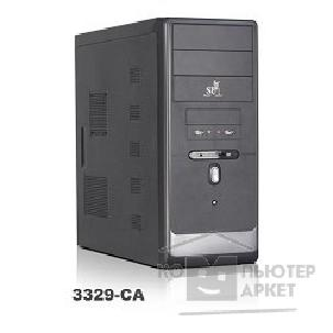 Корпус SuperPower MiniTower SP 3329-CA черный  350W  2USB/ AU/ 24pin/ S-ATA mATX