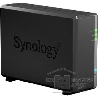 Дисковый массив Synology DS115 DiskStation DC800MhzCPU/ 512Mb/ up to 1HDD SATA 3,5'' / 2xUSB3.0/ 1eSATA/ 1GigEth/ iSCSI/ 2xIPcam up to 10 / 1xPS