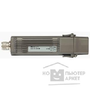 Сетевое оборудование Mikrotik RBMetal9HPn RouterBOARD Metal-9HPn with 400MHz Atheros CPU, 64MB RAM, 1 LAN, 1 built-in 900MHz wireless, RouterOS L4, metal case, mounting loops, PoE injector, PSU US type only