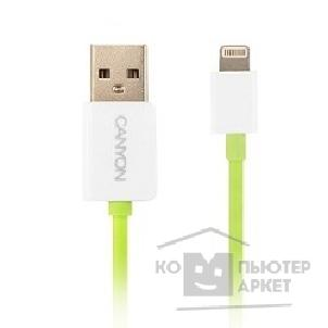 Кабель Canyon CNS-CLTUC3GW Style Lightning to USB Cable 1m Green/ White