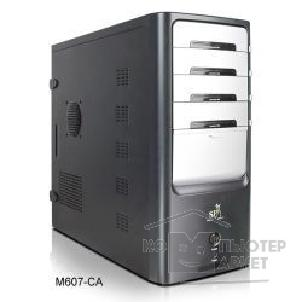 Корпус SuperPower MidiTower SP M607-CA черный  400W  USB/ AU/ S-ATA