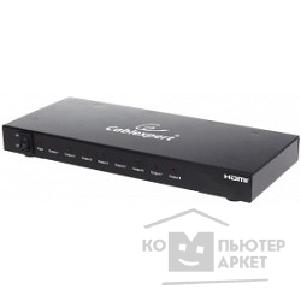 Разветвитель Gembird DSP-8PH4-02 Разветвитель HDMI Cablexpert DSP-8PH4-002, HD19F/ 8x19F, 1 компьютер => 8 мониторов, Full-HD, 3D, 1.4