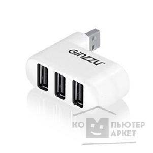 Контроллер Ginzzu HUB GR-410UW  USB 2.0 3 port, white
