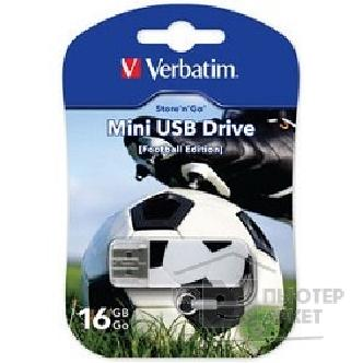 носитель информации Verbatim USB Drive 16Gb Mini Graffiti Edition Football 049879