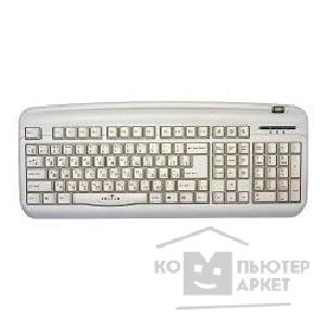 Клавиатура Oklick 300M Office Keyboard PS/ 2 + USB порт серебро [39219]