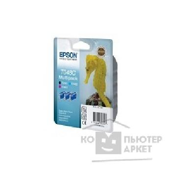 Расходные материалы Epson C13T048C4010 T048 Multi Pack C, M, BK triple cons ink