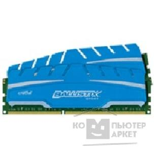 Модуль памяти Crucial DDR3 DIMM 16GB PC3-12800 1600MHz Kit 2 x 8GB  BLS2C8G3D169DS3CEU Ballistix Sport XT CL9 1.5V