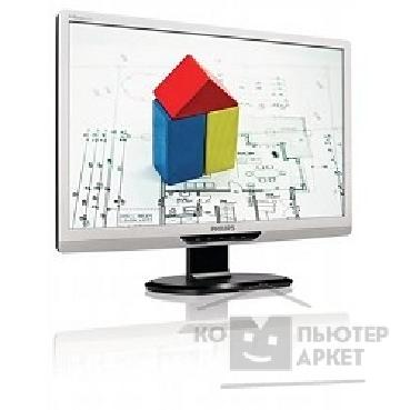 "Монитор Philips LCD  22"" 220S2SS/ 00 Silver LCD, 1680x1050, 5 ms, 176°/ 170°, 250 cd/ m, 500'000:1, +DVI"