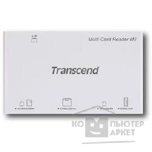 Устройство считывания Transcend USB 2.0 Multi-Card Reader M3 All in 1  [TS-RDM3W] White