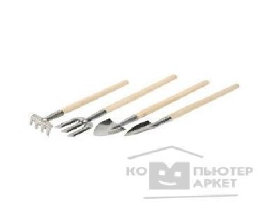 Зубр Набор Инструменты из нержавеющей стали для ухода за комнатными растениями, 4шт 4-39691-H4 4-39691-H4