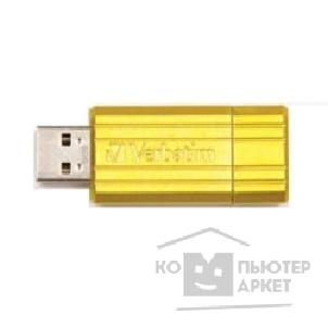 носитель информации Verbatim USB Drive 8Gb Pin Stripe Sunkissed Yellow 47395