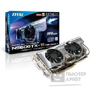 Видеокарта MicroStar MSI N560GTX-Ti Twin Frozr II/ OC RTL, 1GB GDDR5,Twin FROZR II FAN,OC,2xDVI-I,mHDMI,PC,SLI,PCI-E