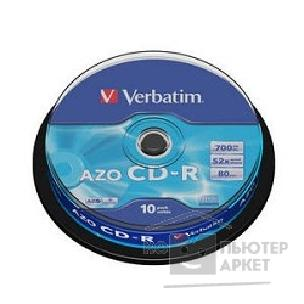 Диск Verbatim Диски CD-R 80 52x DL+ CB/ 10 Crystal  43429