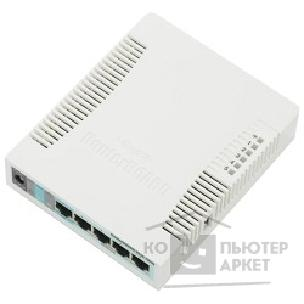 Сетевое оборудование Mikrotik RB951G-2HnD Беспроводной маршрутизатор,RouterBOARD 951G-2HnD with 600Mhz CPU,128MB RAM, 5xGbit LAN, built-in 2.4Ghz 802b/ g/ n 2x2 two chain wireless with integrated antennas, plastic case, PSU