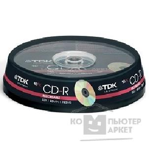 Диск Tdk Диск CD-R 700Mb 52x Cake Box 10шт [t19539]