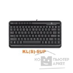 Клавиатура A-4Tech Keyboard A4Tech KL-5 -1 UP, USB+PS/ 2, черный мини, Slim, 7 доп клав.