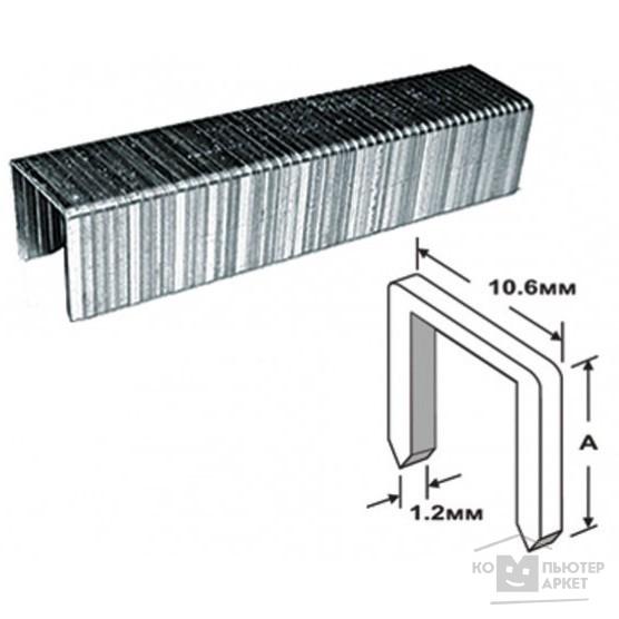 FIT IT Скобы для степлера закалённые прямоугольные 10,6 мм х 1,2 мм (широкие тип 140)  6 мм, 500 шт. [31206]/FIT 31206 31206 FIT
