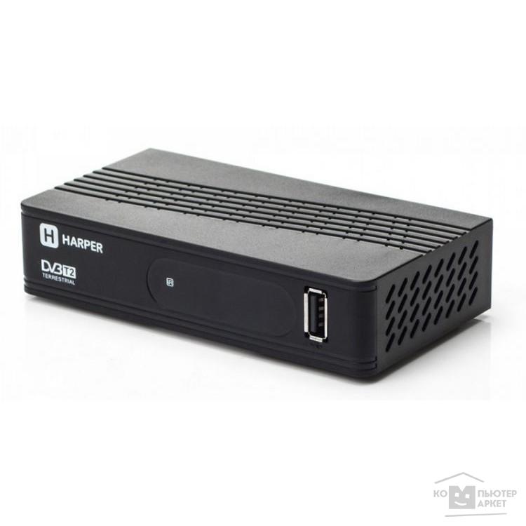 HARPER HDT2-1202 {YOUTUBE, DOLBY DIGITAL, Процессор: Sunplus 1509C; Разрешение видео: 480i, 480p, 576i, 576p, 720p, 1080i, Full HD 1080p; Поддерживаемые форматы мультимедиа: AVI, MKV, VOB}/Harper H00001104 H00001104