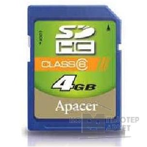 Карта памяти  Apacer SecureDigital 4Gb , SDHC Class 6