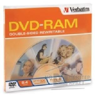 Диск Tdk DVD-RAM 9.4 Gb, 3x, double sided with cartrige, Type 4, Verbatim 43492/ 93