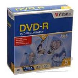 Диск Verbatim DVD-R 8x, 4.7 Gb, Colour   Slim Case, 5 шт. 43465