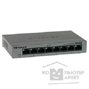 Сетевое оборудование Netgear GS308-100PES 8-port 10/ 100/ 1000 Mbps switch with external power supply,metallic case