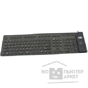 AgeStar Клавиатура  AS-HSK810FA BLACK combo USB+ PS/ 2, гибкая, черная, 109 клавиш