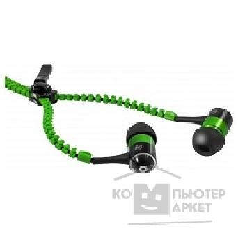 Наушники Defender ZigZag Green Вкладыши, 1,1 м [63800]