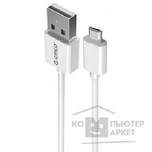 Кабели Orico  ADC-10-WH Кабель USB2.0 A male to MicroUSB 2.0 1m ADC-10 белый