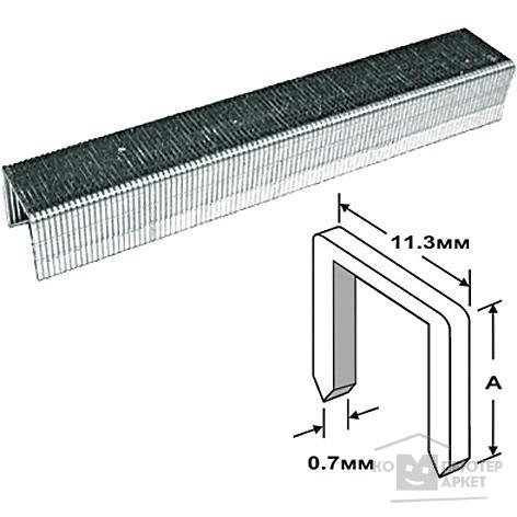 FIT DIY Скобы для степлера закалённые прямоугольные 11,3 мм х 0,7 мм  (узкие тип 53)  6 мм, 1000 шт. [31406]/FIT 31406 31406 FIT