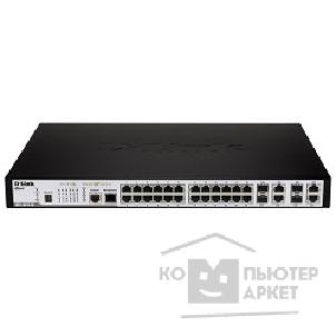 Сетевое оборудование D-Link DES-3810-28/ ESI 24-Port 10/ 100Mbps + 4 Combo 1000BASE-T/ SFP L3 Managed Switch
