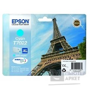 Расходные материалы Epson C13T70224010  WP 4000/ 4500 Series Ink XL Cartridge Cyan 2k