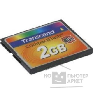 Карта памяти  Transcend Compact Flash 2Gb   TS2GCF45 45-x