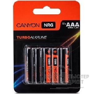 Батарейка Canyon NRG alkaline battery AAA, 10pcs/ pack. S6ALKAAA10