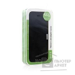 Чехол gmini mPower Case MPCI53F Black iPhone 5/ 5S; 4200mAh; Usb-out; Flip cover