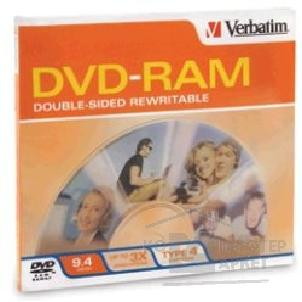 Диск Tdk DVD-RAM диск 9.4 Gb, double sided with cartrige, Type 4, Verbatim 43121/ 43161
