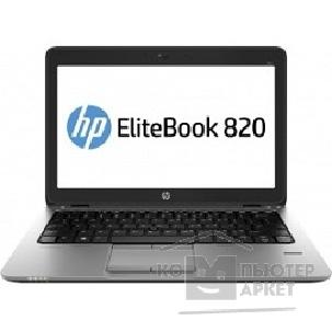 "Ноутбук Hp EliteBook 820 G2 12.5"" 1366x768 матовый / Intel Core i5 5200U 2.2Ghz / 4096Mb/ 256SSDGb/ noDVD/ Int:Intel HD5500/ Cam/ BT/ WiFi/ war 3y/ 1.33kg/ silver/ black metal/ W7Pro + W8Pro key"