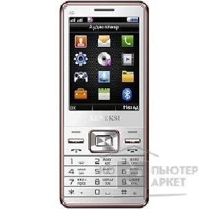 Кенекси KENEKSI X5 White, 2.8'' 320x240, up to 16GB flash, 1.3Mpix, 2 Sim, 2G, BT, 1000mAh, 92g, 130x56x11