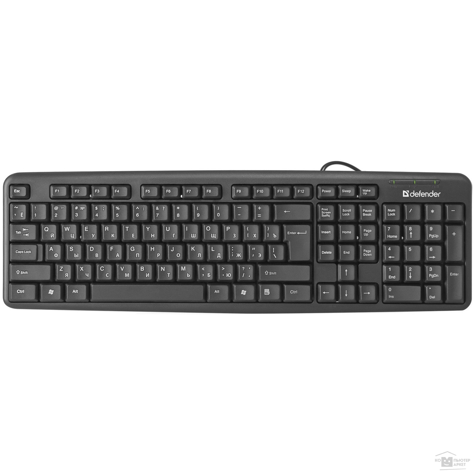 Клавиатура Defender Element HB-520 Black PS/ 2 [45520]