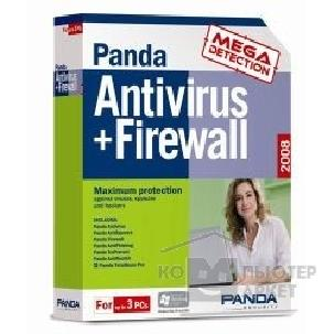 Программное обеспечение J12T08 Panda Antivirus+Firewall 2008 Retail Box на 3 ПК 1 год