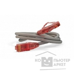 Патч-корд Hyperline PC-LPM-UTP-RJ45-RJ45-C5e-1M-LSZH-GY Патч-корд UTP, Cat.5e, LSZH, 1 м, серый