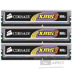 Модуль памяти Corsair  DDR-III 6GB PC3-12800 1600MHz Kit 3 x 2GB  [TR3X6G1600C9] for Intel Core i7