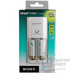 Sony ЗУ  Compact Charger + 2ак. AA 2100mAh [BCG34HW2KN]
