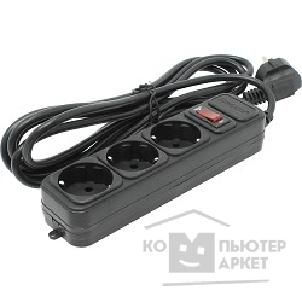 Exegate EX221179RUS Сетевой фильтр Exegate SP-3-3B (3 розетки, 3м, евровилка, черный)/Exegate SP-3-3B EX221179RUS